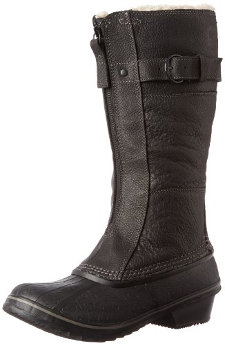 Hot Sale Sorel Women's Winter Fancy Tall Boot,Black/British Tan,10.5 M US