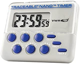 VWR 21800-064 Traceable Nano Timer, 55.88 mm Height, 129.54 mm Width, 162.56 mm Length (Pack of 1)