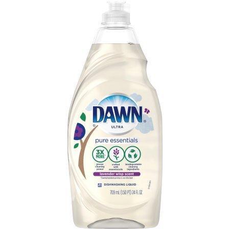 Dawn Pure Essentials Lavender Wisp Dishwashing Liquid, 24 Fl Oz (3 Pack)