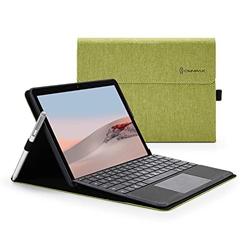 Omnpak Hülle für Microsoft Surface Go 3 2021 / Go 2 2020 / Go 2018 / 10-Zoll Tablet, Business-Hülle mit Stifthalter, Einstellbarer Multi-Betrachtungswinkel, kompatibel mit der Type Cover-Tastatur