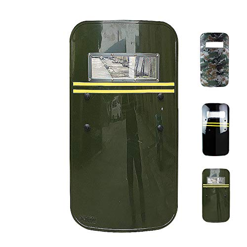 SHIJIU SHIMENG Plastik PC Aufruhrschild Polizei/SWAT/Soldat/Kapitän/Verteidige Cosplay Requisite Real Size Rechteck Riot Shield Police 90x 50cm (Grün)