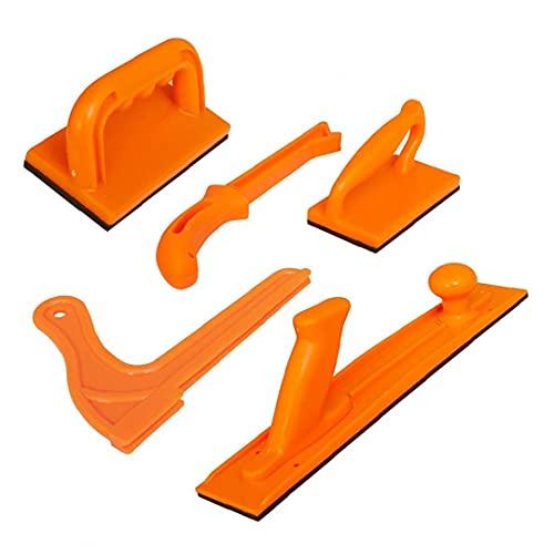 5PCS Bloque de empuje Seguridad palillo de alta visibilidad con la herramienta de mano de la manija de la madera Sierra de mesa Router Tabla Jointer