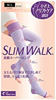 ピップ スリムウォーク (SLIM WALK) 美脚スーパーロング MLサイズ ラベンダー 着圧 ソックス×5個