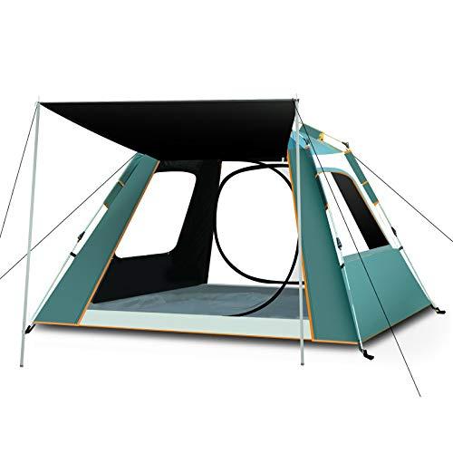 Automatisches Outdoor Camping Zelt Outdoor Produkte Vinyl 3-4 Personen rund um die Sonne und Regen Angelzelt (Himmelblau Silber Kleber groß quadratisch)