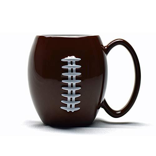 40YARDS American Football Tasse mit erhabener, fühlbarer Football Naht (600 ml) für Kaffee, Tee, Kakao & mehr