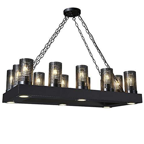 PONEYFREELY 12 盏 E26 Sockel Industrieküche Insel Licht, Retro rechteckigen Kronleuchter, Bauernhaus Deckenleuchte