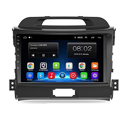 NBVNBV Android 8.1 Touchscreen Autoradio GPS Navigationsgerät Auto Multimedia System Fit für KIA sportage 2011-2015 Karte Aktualisierung Rückfahrkamera,Sporta32g cam dvr