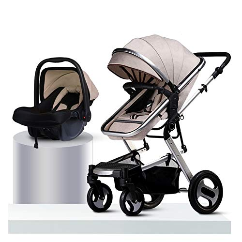 Cochecitos para Bebés Y Niños Pequeños, Cochecitos para Muñecos Sistema De Viaje Fold Jogger | Incluye El Cochecito Plegable para Trotar Y El Asiento Infantil (Color : Stroller, Size : A)