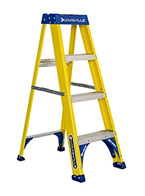 Stanley SXL3112-04 Fiberglass Step Ladder Type I, 250 lb Load Capacity 4' with Multi-Functional Top