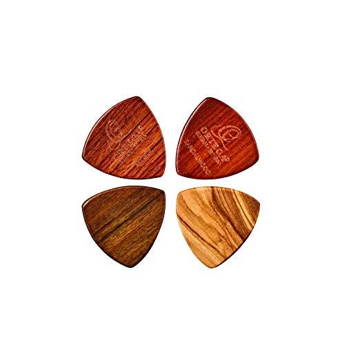 ORTEGA surtido púas de madera- Paquete de 4 uds./ oliva/padouk/sandel/chacate XL (OGPWXLF-MIX4)
