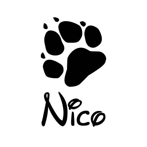 Gravola Pfote mit Wunschname Katzenpfote Hundepfote Aufkleber