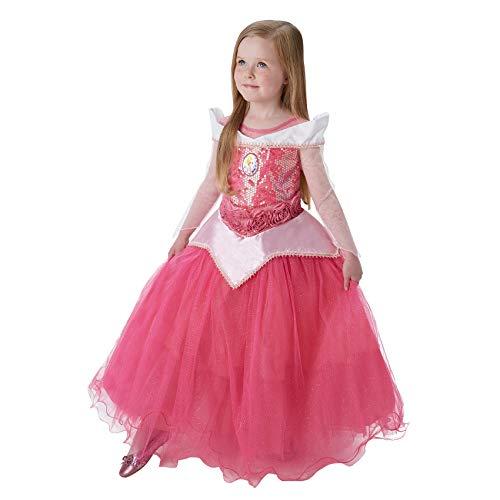 Princesas Disney - Disfraz de Bella Durmiente Premium para niña, infantil 5-6 años (Rubie's 620471-M)