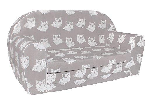 MuseHouse Kindersofa Kindercouch Kindersessel Sofa Bettfunktion Kindermöbel (S105)