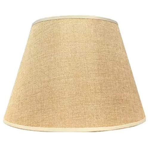 Gesh Lámpara de mesa con accesorios E27 de lino, lámpara de pared, lámpara de pie, pantalla de tela, diámetro inferior, 30 cm, color amarillo
