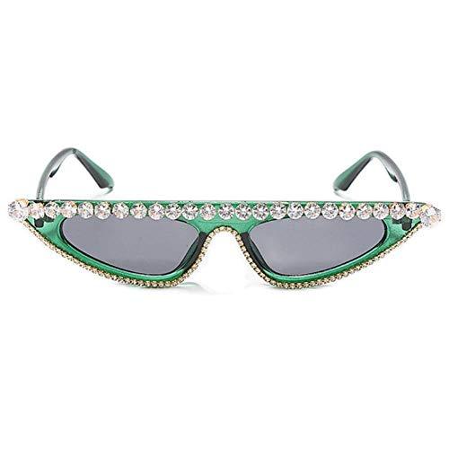 UKKD Gafas De Sol Mujeres Rhinestone De Gran Tamaño Gafas De Sol Mujer Steampunk Diamante Gafas De Sol Square Punk Eyeglasses Gradient Hecho A Mano Gafas De Sol