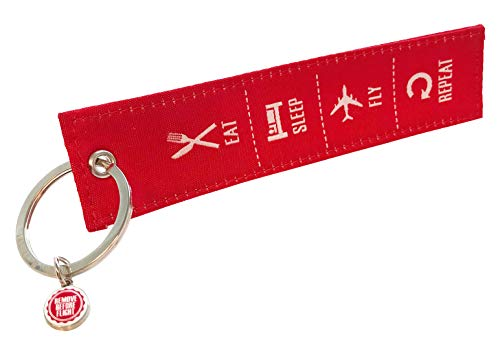 REMOVE BEFORE FLIGHT - Llavero con texto