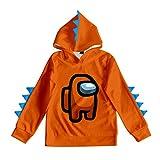 Among Us - Sudadera con capucha para niños y niñas, 90-170 cm, diseño de dinosaurios A19 120 cm