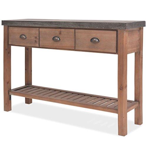 ROMELAREU consoletafel dennenhout massief 122 x 35 x 80 cm meubels kasten buffets & dressoirs