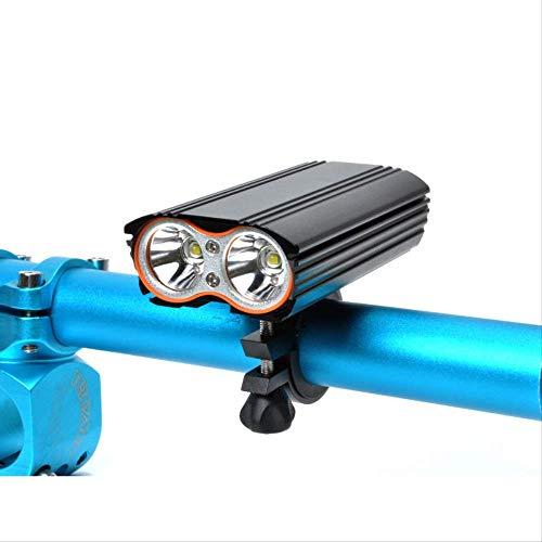 CAIJINJIN Bicicleta Conjunto de luz de bicicleta LED Luz de la luz de la bicicleta LED Atrás USB Luces de bicicleta resistentes a la bicicleta RECARGABLE, LED Frontal LED Fácil de instalar Ciclismo Se
