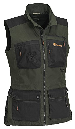 Pinewood Damen New Dog Sports Weste, Moosgrün/Schwarz, XL