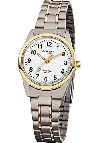 Regent Damen Analog Quarz Uhr mit Titan Armband 12290270