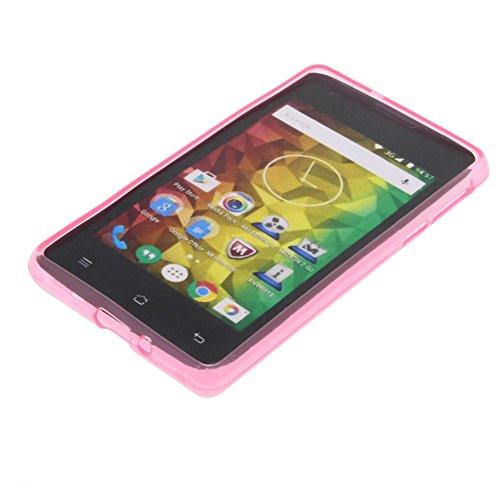 foto-kontor Tasche für MEDION Life E4005 Gummi TPU Schutz Hülle Handytasche pink
