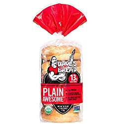 Dave's Killer Bread Plain Awesome Bagels, Organic Plain Bagels - 16.75 oz Bag