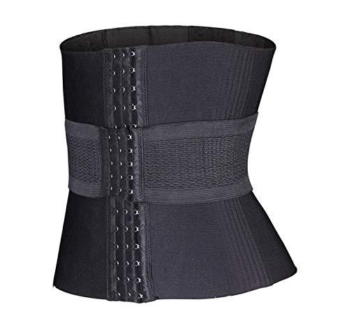 A1-Brave Traisor de Cintura para Mujer Cuerpo Shelly En Forma de cinturón 16 Acero Hueso Shaper Slimming Corset Corset (Color : Negro, Size : S)