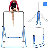 Yinguo Expandable Gymnastics Bars, Junior Adjustable Height Horizontal Bars, Children Folding Training Bars
