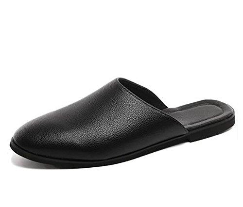 MHGAO Zomer eenvoudige lederen brood hoofd halve pantoffels nieuwe business casual wilde dagelijkse mannelijke schoenen