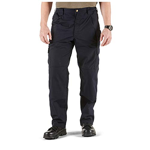 5.11 Tactical Men's Taclite Pro Lightweight Performance Pants, Cargo Pockets, Action Waistband, Dark Navy, 34W x 32L, Style 74273