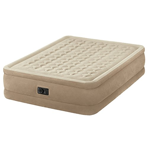 Intex Queen Size Fiber-Tech Ultra Plush Raised Airbed with Built-in Electric Pump