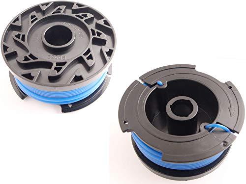 Bobine de fil 1,6mm (2x) adapté pour Black&Decker GLC3630L20 Débroussailleuse
