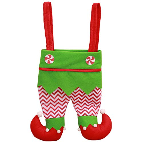 WWLIN Tote Payaso Pantalones portátiles Bolsa de Dulces Vino Soporte para Botella de champán Decoración del hogar de Navidad Regalo para niños
