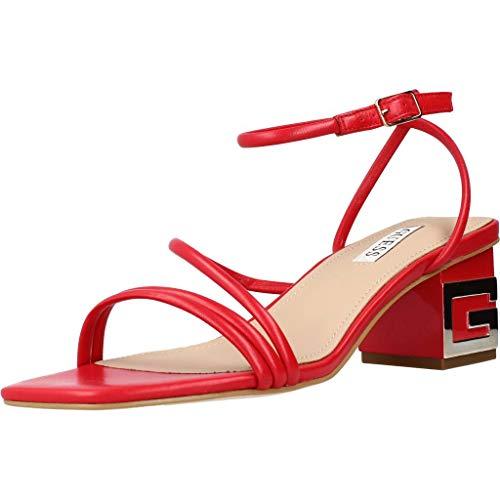 Scarpe Guess Sandalo Macre TC 55 in Pelle Rosso DS21GU43 FL6MACLEA03 38