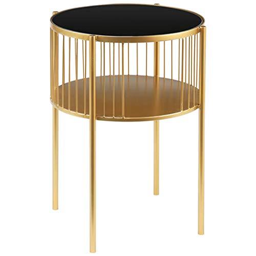 Koffietafel Ronde Moderne Elegante Bijzettafel/Sofa Tafel/Zak Einde Tafel Voor Woonkamer Slaapkamer Marmeren Top En Metaal Goud Afwerking, Hoog 55cm.