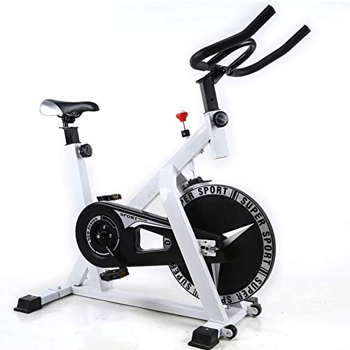 Shocly Bicicleta De Spinning Bicicleta Fitness Plegable Spinning Profesional Resistencia Variable Aptitud Casa Plasticidad,White