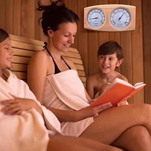 Wintesty Saunathermometer, 20-140 ° Holzsaunathermometer Hygrometer Thermometer Sauna like-minded