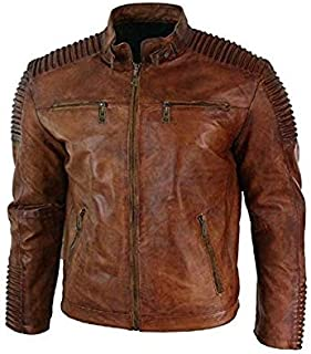 HIGH TOUCH Genuine Leather Brown Jacket for Men's (Size :- XS to 2XL,Colour :- Brown)