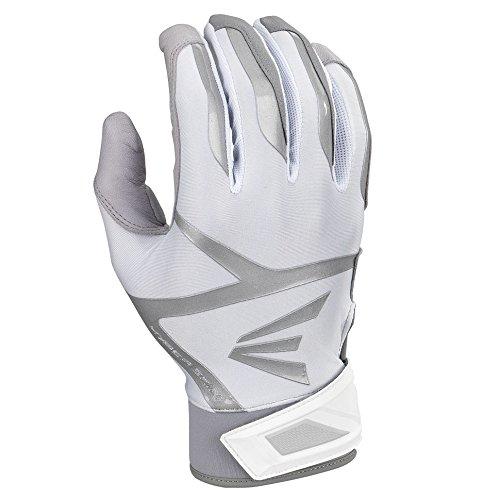 Easton Z7 VRS Hyperskin Batting Gloves, Gray/White, Large