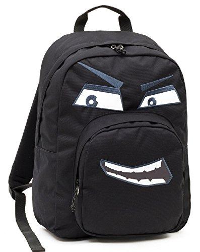 ZAINO INVICTA - OLLIE PACK FACE - Nero Evil - tasca porta pc padded - scuola e tempo libero americano 25 LT