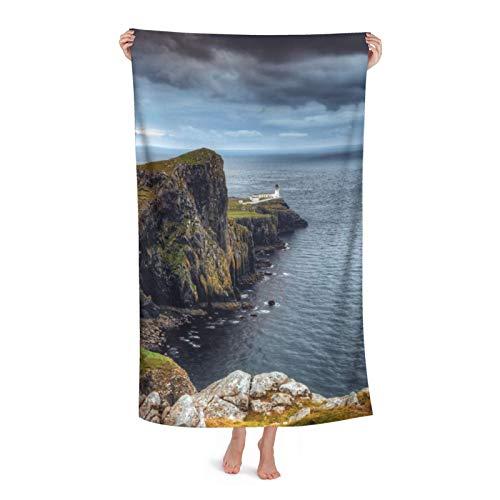 Lsle of Skye Scotland Toalla de playa de microfibra para piscina, 80 x 130 cm, secado rápido, arena para viajes al aire libre, manta de microfibra personalizada