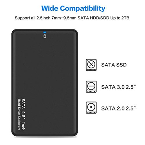 asbter USB 3.0 HDD SATA Disco duro externo Caja de la caja del ...
