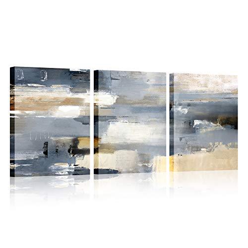 3 paneles Marco de madera Cuadro abstracto Lienzo Pintura Cartel HD Impresión de...