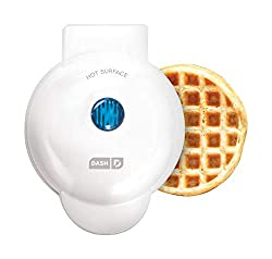 Image: Dash Mini Maker: The Mini Waffle Maker Machine | for Individual Waffles, Paninis, Hash browns, other on the go Breakfast, Lunch, or Snacks