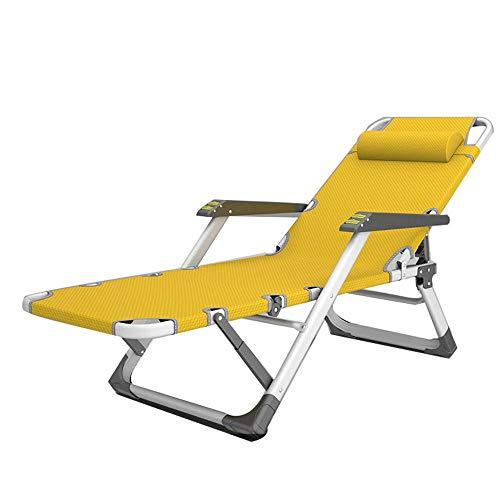 Zero Gravity Chair Bearing 420 Pounds Terrace Lounge Chair Foldable Beach Chair Reclining Chair-D