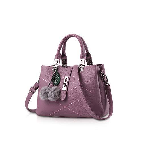 NICOLE & DORIS 2021 Neue Welle Paket Kuriertasche Damen weiblichen Beutel Handtaschen für Frauen Handtasche Dunkelviolett