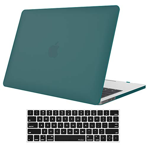 ProCase MacBook Pro 13 Case 2019 2018 2017 2016 Release A2159 A1989 A1706 A1708, Hard Case Shell Cover and Keyboard Skin Cover for Apple MacBook Pro 13 Inch with/Without Touch Bar and Touch ID –Teal
