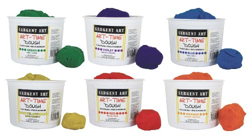 Sargent Art 6 Color Dough Set, 3 Pounds Each, Art-Time Artist Dough, 18-Pound Assortment