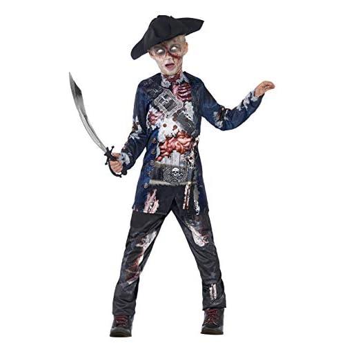 SMIFFYS Costume Deluxe Pirata, comprende Top, Pantaloni e Cappello, Stampa a sublimazion